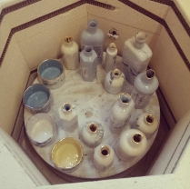 work in the kiln finished