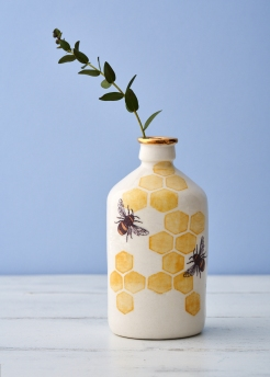 Large porcelain bee bottle