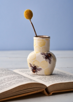 Small porcelain bee bottle