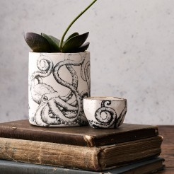 Porcelain octopus planter and ring pot