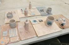 Printed ceramic vessel workshop