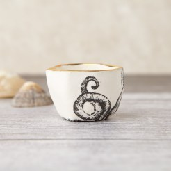 Large porcelain octopus ring pot