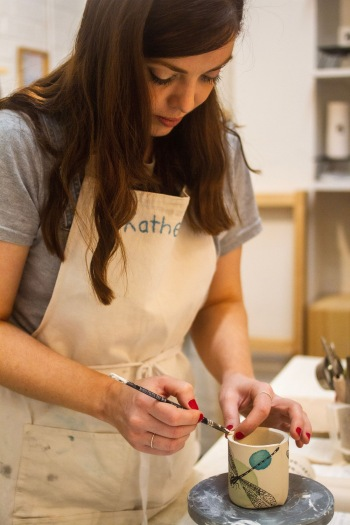 Katherine making in Studio 5